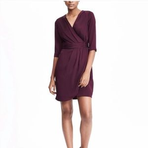 Banana Republic Ruched Crossover Front Dress sz 12